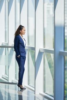 Mulher de negócios ambicioso