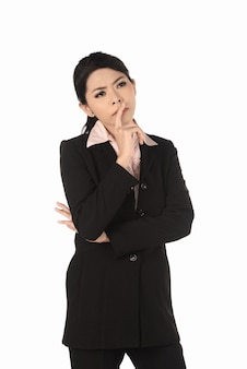 Mulher de negócios asiáticos pensando