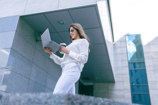 Mulher de negócios estilo de vida urbano