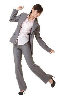 Mulher de negócios relaxada