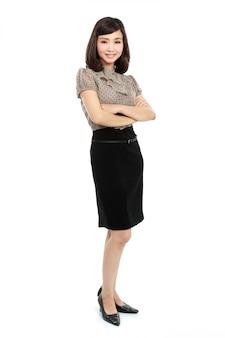 Mulher de negócios sorridente
