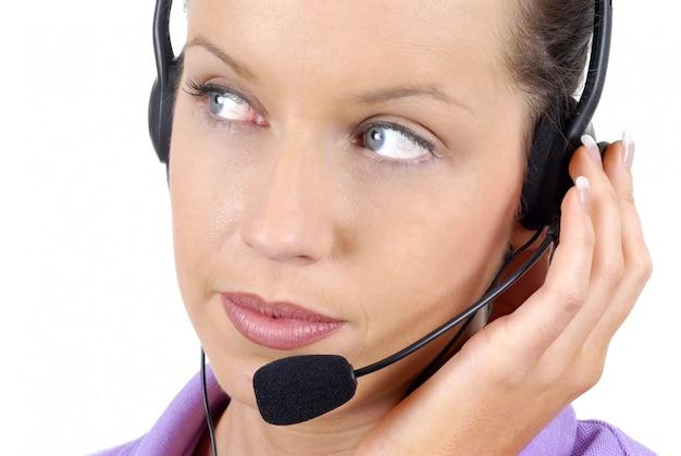 Mulher de serviço ao cliente
