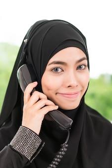 Mulher do islã de negócios