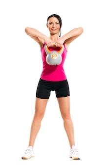 Mulher durante exercícios de fitness