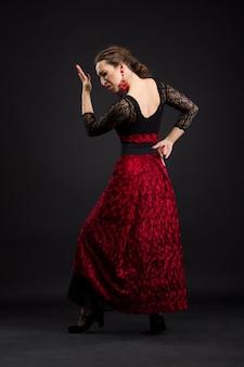 Mulher espanhola, dançar flamenco