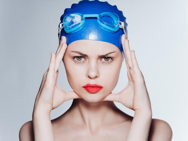 Mulher esportiva, esportes aquáticos, close-ups profissionais