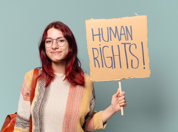 Mulher estudante ativista tty