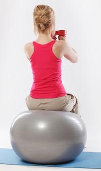 Mulher exercitando