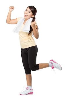 Mulher feliz fitness