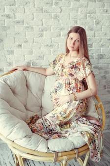 Mulher grávida de beleza