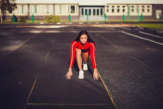 Mulher jovem atleta