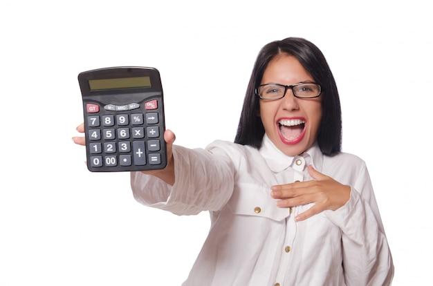 Mulher jovem, em, conceito negócio