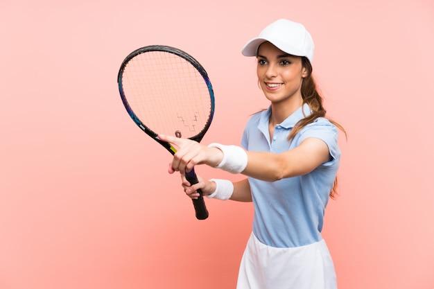 Mulher jovem tenista