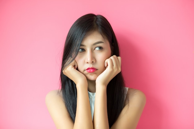 Mulher, mostrando, expressão facial