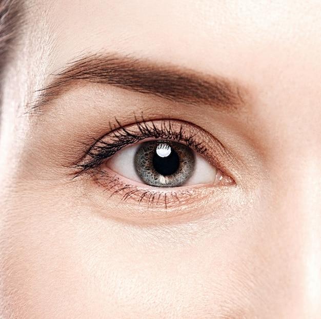 Mulher, mulher, sobrancelha, olhos, cílios