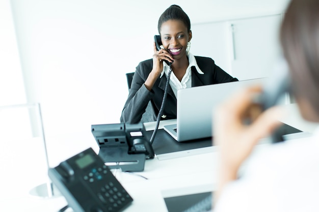 Mulher negócio, telefone