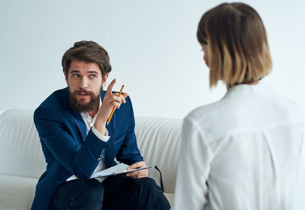Mulher paciente psicóloga visita terapia medicamento tratamento contra estresse