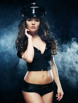 Mulher policial linda sexy