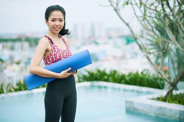 Mulher pronta para treinar