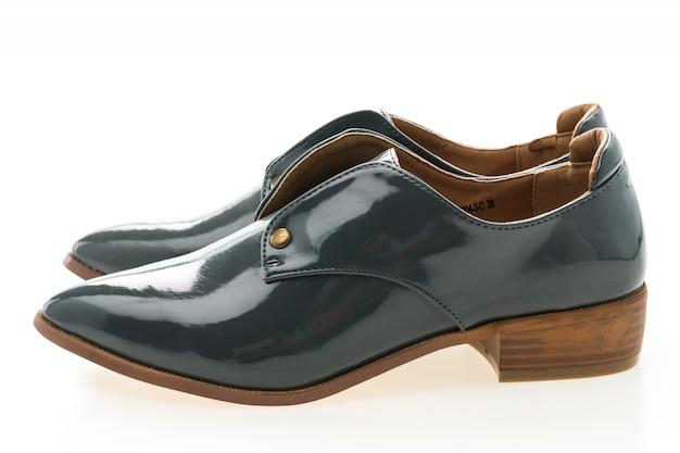 Mulher sapatos de couro