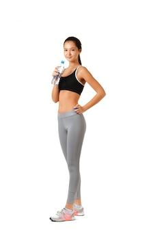 Mulher saudável fitness isolada