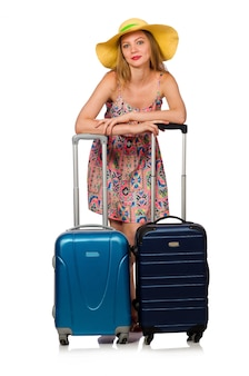 Mulher se preparando para as férias de verão