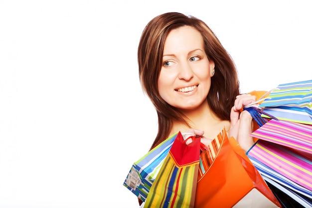 Mulher sexy de compras