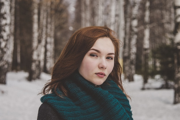 Mulher sexy e elegante, close-up retrato