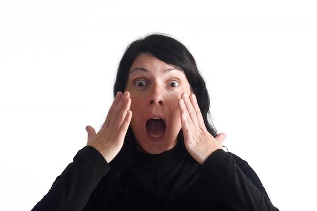 Mulher surpreendida