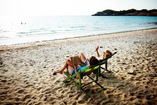 Mulher, viagem férias, viagem, relaxamento