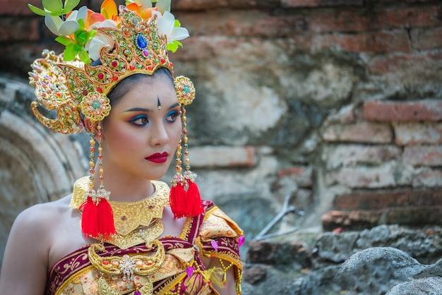 Mulheres asiáticas de retrato de bali