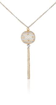 Mulheres elegantes com pingente de ouro. joias da moda feminina. o melhor presente de natal.