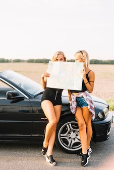 Mulheres, ficar, mapa