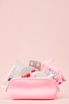 Mulheres produtos de higiene íntima