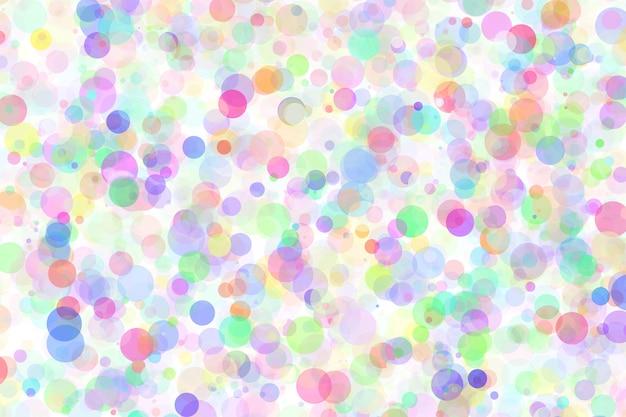 Multicolor abstrato com círculos caóticos no fundo branco