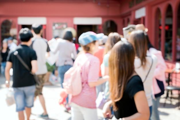 Multidão pessoas esperando celebração conceito