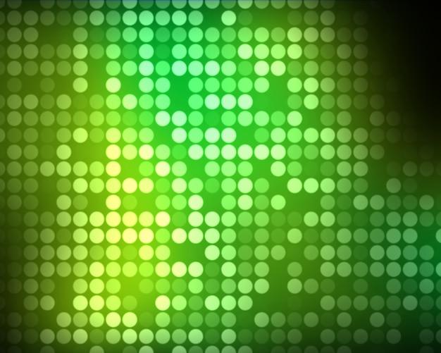 Múltiplos pontos verdes e verdes