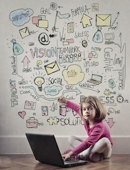 Mundo digital de uma criança