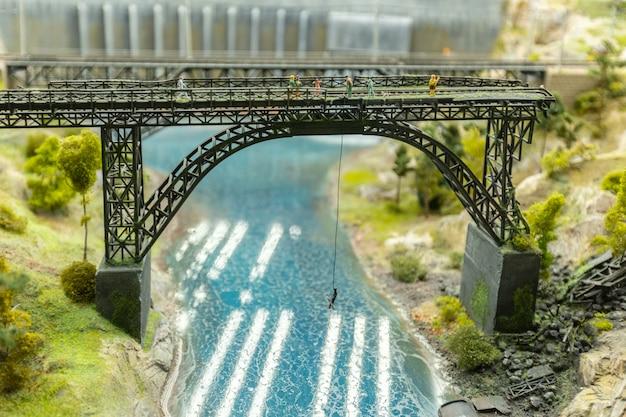 Mundo em miniatura, close-up