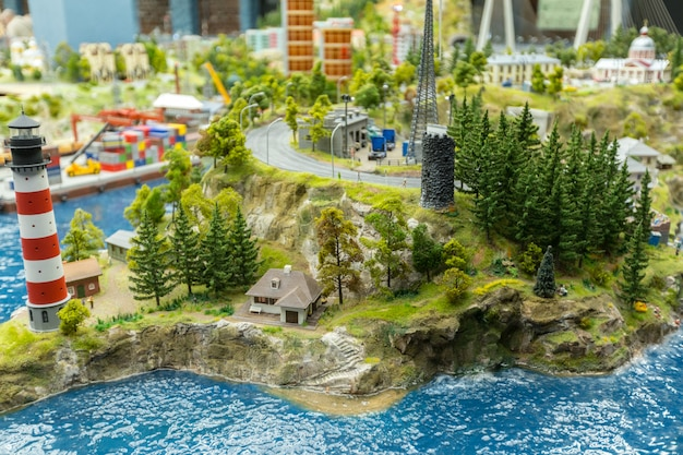 Mundo em miniatura, close-up