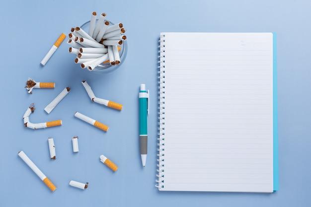 Mundo sem conceito de dia de tabaco.