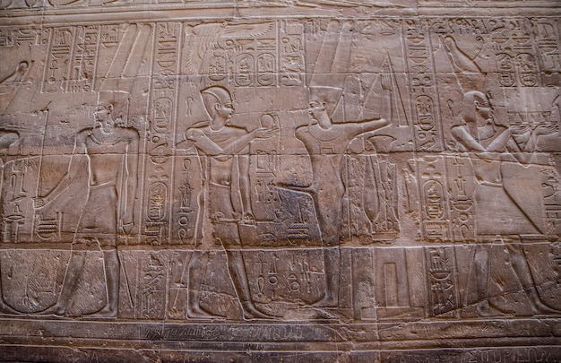 Mural de parede egípcia