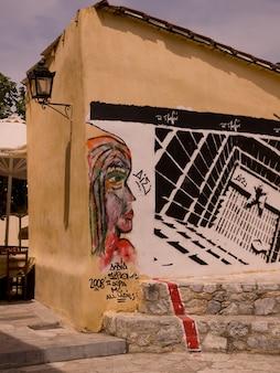 Mural em atenas, grécia
