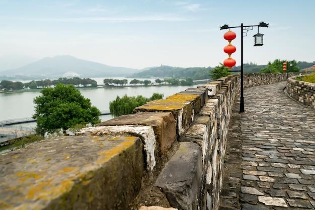 Muralhas da cidade antiga em nanjing, china