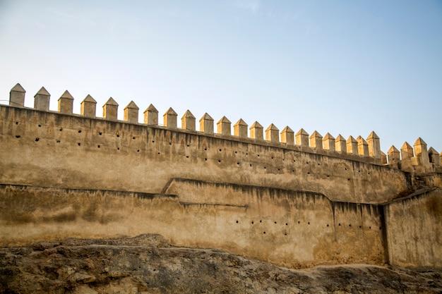 Muralhas da cidade velha em fez, marrocos