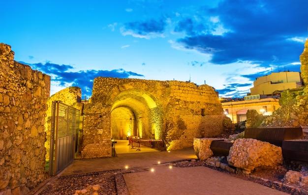 Muralhas romanas de tarragona, na catalunha, espanha