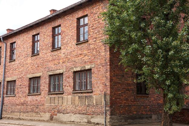 Museu do campo de concentração nazista auschwitz-birkenau