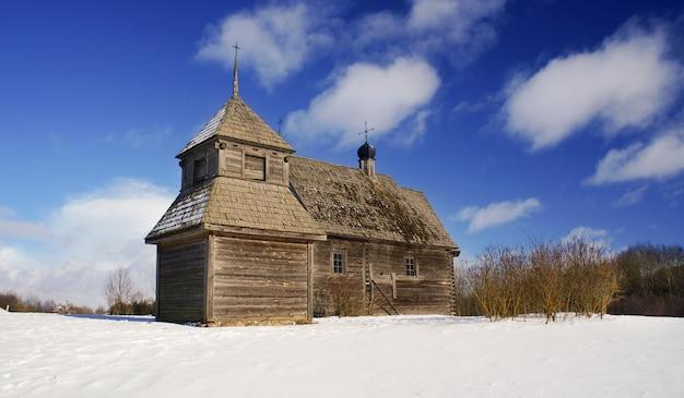 Museu do estado bielorrusso da arquitetura popular, região de minsk, vila de azjarco, bielorrússia