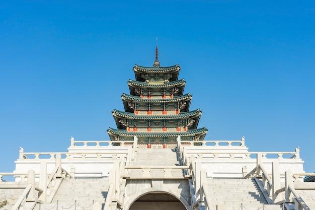 Museu nacional folclórico da coreia do sul na cidade de seul no inverno