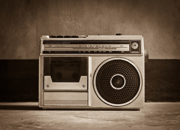 Música elétrica fundo retro antigo